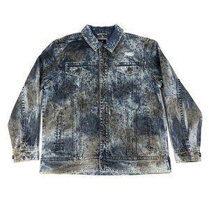 Makobi XL Acid Wash Blue Denim Jean Jacket